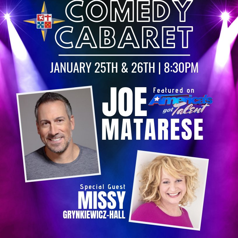 Comedy Cabaret – Joe Matarese – January 26, 2019