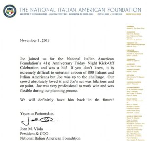 The National Italian American Foundation - Joe Matarese