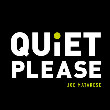 quiet please sticker